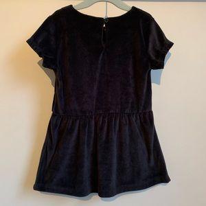 Carter's Dresses - CARTER'S Black Velour Short-sleeve Dress